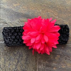 Stretch Headband with Oversized Flower